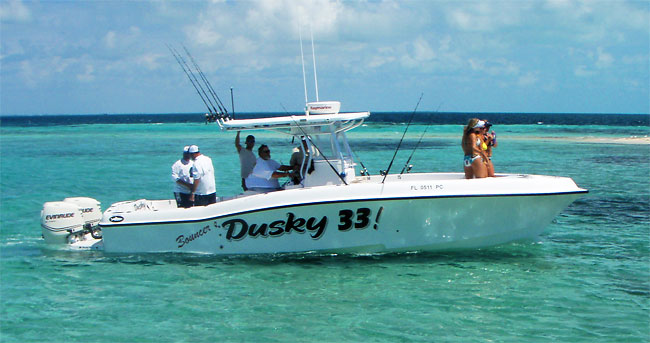 335e15bbe2db3 Bouncers Dusky 33 is located 200 yards from the inlet